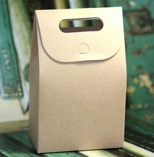 Brown Cardboard Bag Gift Packing Bag with Handle