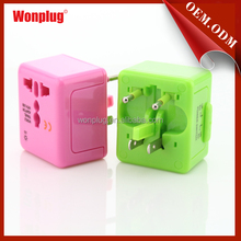 Free Shipping International Universal Travel Adapter with USB Charger