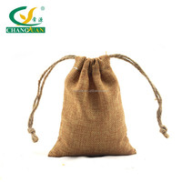 hemp rope handle small drawstring pouch
