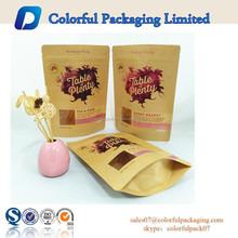 Eco-friendly Kraft Paper Bags Food Tea Packaging with Window