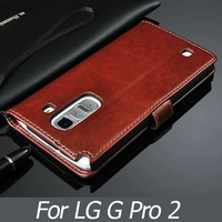 New Item 2014 OEM Support Hand Made PU Leather Top Quality Phone Case for LG Optimus G Pro 2 Mobile Phone with Mulitfunction