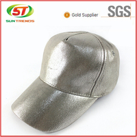 New Arrival Custom 5 Panel Wholesale Silver Blank Baseball Cap