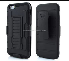 3 in 1 PC+Silicone Belt Clip kickstand Combo Armor Cover Case for iPhone 6 4.7 With High Quality Protecter Case