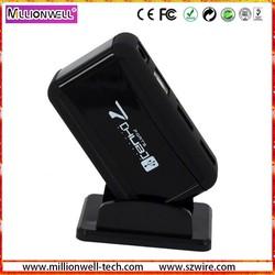 New black mini 7 port stand USB hub 2.0 with OEM logo