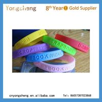 custom different types silicon printed rubber bands