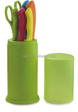 best kitchen knives set with stand and scissors