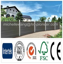 Easy install top quality Europe Popular WPC home garden fence, antique garden fence