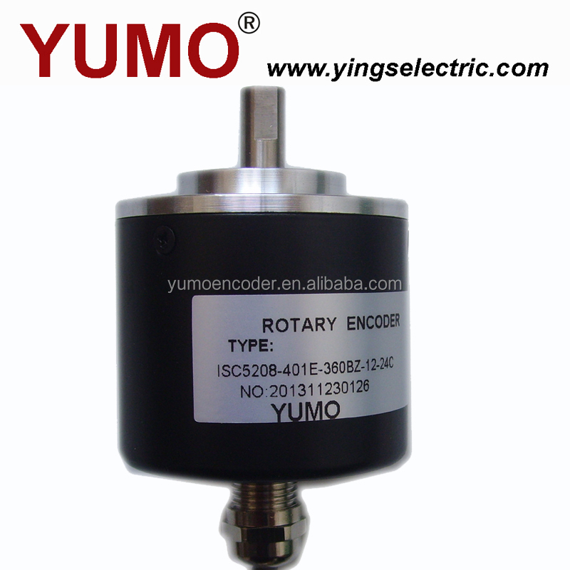 YUMO ISC5208 52mm 8mm Auto type CNC Machine Solid shaft encoder optical price motor sew air sensor