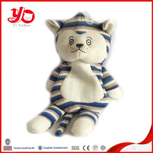 Custom unstuffed soft cat toy, plush unstuffed cat toy doll