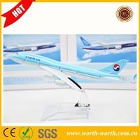 Wholesale alibaba Korean Airway B737 toy airplanes metal, alloy metal airplane