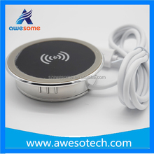 High Quality Qi standard universal wireless charger for furniture