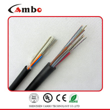 Wooden drum packing multi pairs SM/MM fiber optic cable armored tactical fiber