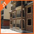 Moderna barandillas de los balcones / perfil de aluminio / aluminio barandilla