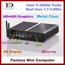 i7 Barebone System Mini PC With Intel Core i7 4500U Processor Max 3.0GHz HD4400 Graphics DP And HD Port Support 3D Game computer