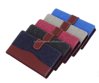 Fashion Contrast Color Stand Leather Phone Case Wallet Phone Case with Card Holder For Sony Xperia z4 CO-LTC-1025