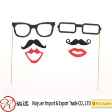 Colorful felt Props On A Stick Mustache Photo Booth Party Fun Wedding Christmas Birthday Favor