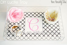 wholesale lucite trays,fashional letter tray
