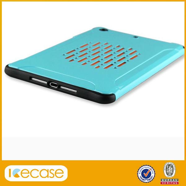TPU+PC Hybrid Case For IPad mini, reticulated tablet back Cover case for ipad mini