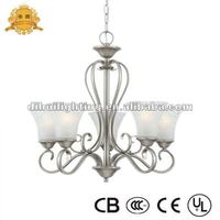 2012 Single Tier Silver Glass Chandeliers Lights
