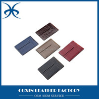 portalbe leather bus id card holder shopping id card holder best leather gift items