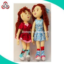 2015 safety lovely plush stuffed dolls for girls