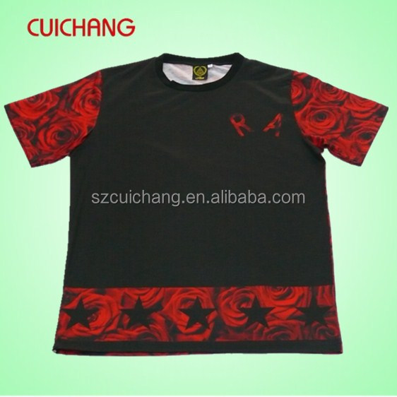 Wholesale Polyester Spandex Heat Transfer Custom Design T
