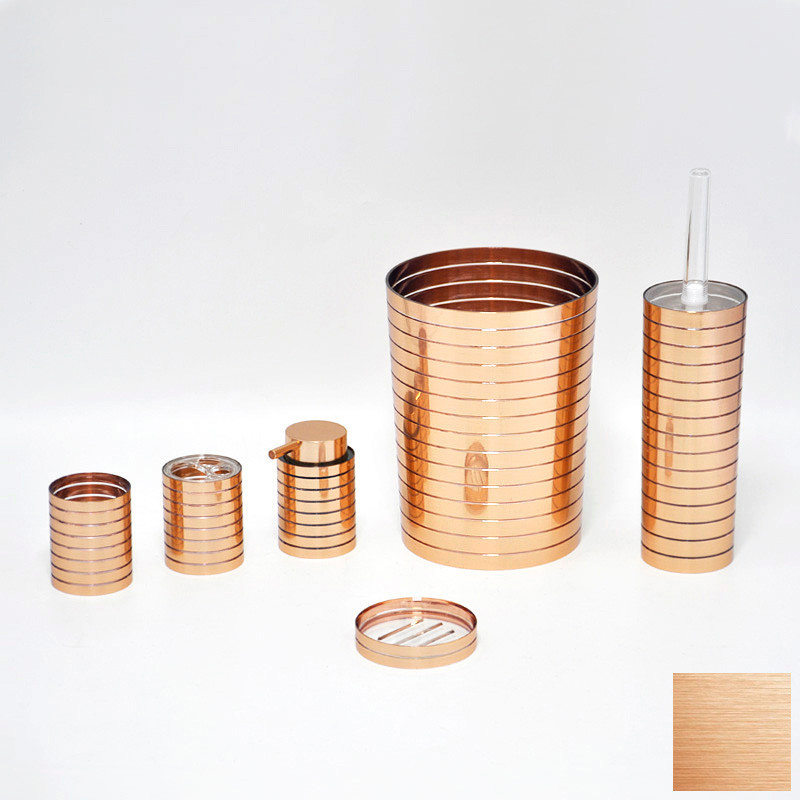 6 pcs plastic stable fashion looking copper bathroom for Looking for bathroom accessories