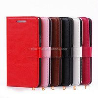 Wholesale Luxury Genuine Leather Wallet Cover Flip Case for HTC One M7 Back Cover Protective Shell Skin