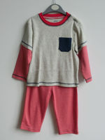Baby clothes 100% cotton long sleeve knit fabric kids funny pajamas
