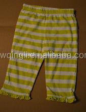 2015 boutique Children small ruffle Pants Baby Soft comfort 100% Cotton little Girls Capris