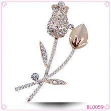 New collection flower men suits wedding brooch for wholesale gold brooch
