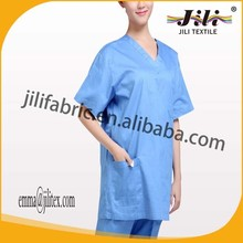 poly cotton tc twill nurse's uniform fabric, 21S*21S,108*58