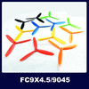DIY model aircraft accessories FC9X4. 5/9045 3-blade electric CW&CCW paddle
