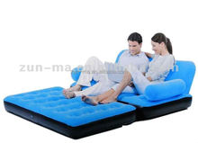 Sleeper love seat folding air sofa bed, Chesterfield lounge 5 in 1 inflatable sofa bed