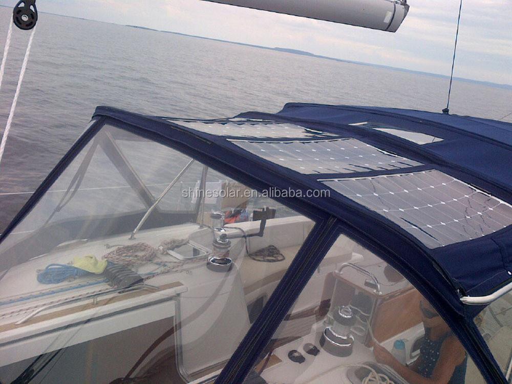 100 w marine utiliser panneau solaire flexible pour yacht bateaux cellules solaires panneaux. Black Bedroom Furniture Sets. Home Design Ideas