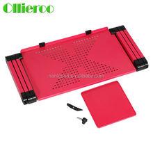 Ollieroo fashion Foldable heat-radiating custom made computer desk