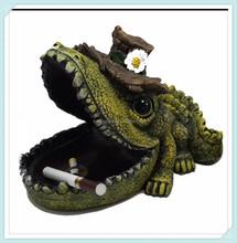 Resin Crafts Crocodile Animal Ashtray