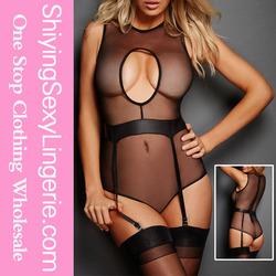 Wholesale sexy women underwear pictures Vixen Micro Mesh Keyhole Teddy lingerie