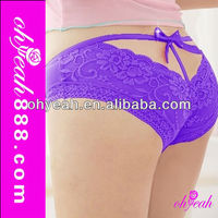 Fashionable lace purple sex women panty