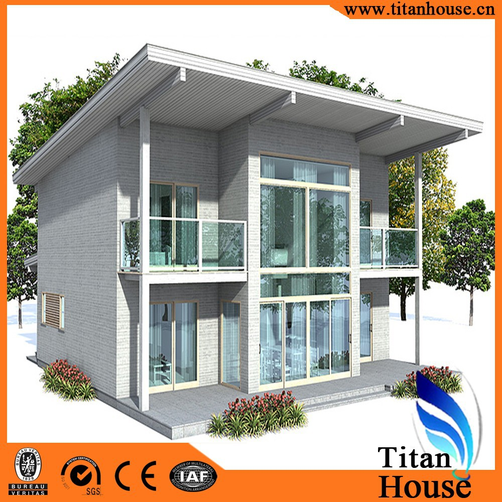 Low cost modern design light gauge steel framing prefab Low cost modern homes