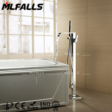 Modern stand bathtub shower faucet,hot and cold shower faucet types,chrome shower faucet sets