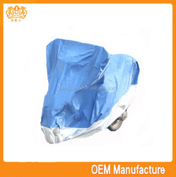 double colour 190t heated motorcycle cover low price,170t silver coated motorcycle cover with multi fun at factory price