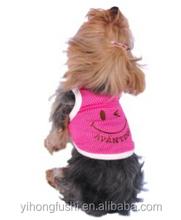 2015 Hot Sale Wholesale Dog cat Clothes Cheap t shrit Nice Design Pet Apparel & Accessories
