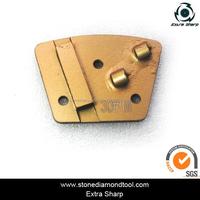 Single Bar Segment Double PCD DMY70 Diamond Metal Polishing Pads Abrasive Disc Diamond Floor Tools for Concrete