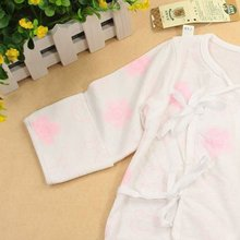 Neonatal suit safe natural with belt rope cotton