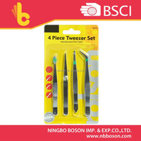 4 pcs tweezer set