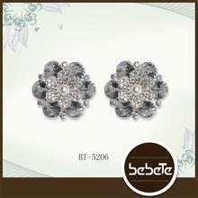 Wholesale Fashion Rhinestone Flower Button for Wedding Bouquet Decoration