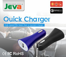 2015 new stylish 9v 2A micro usb car charger with cable