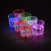 water Active LED Glow Glass ,LED light up LED Flashing Shot Glass,led flashing beer cup