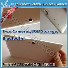 """Amazing lowest price 8GB BT dual core shenzhen 7"""" android tablet"""